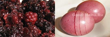 Как красить яйца на Пасху - ежевика