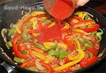 Шаурма с курицей - добавляем томатный сок
