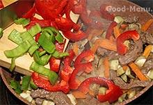Лагман - добавляем салатный перец