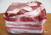 Свежий свиной подчеревок