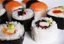 Постные блюда суши
