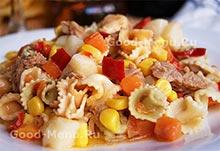 Рецепты постных блюд - салат с тунцом