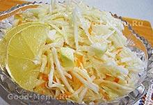 Рецепты постных блюд- салат из капусты