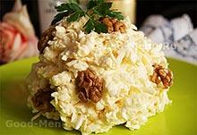 Салат из плавленного сыра на Масленицу