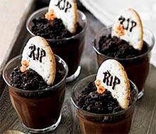 Десерт Могила - рецепт на Хэллоуин