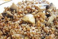 Гречка с грибами - постное блюдо