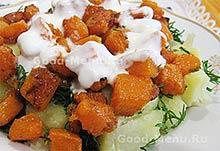 Постные блюда - картошка с тыквой