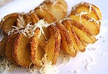Картошка спиралью - постное блюдо