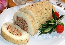 Картофельный рулет - блюда на Масленицу
