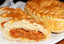 Кулебяка с капустой - рецепт на Масленицу