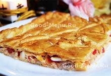 Блюдо на Масленицу пирог с тунцом