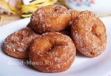 Творожные пончики на Масленицу