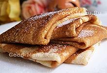 Дрожжевые блины - рецепт на Масленицу