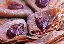 Шоколадные блинчики - рецепт на Масленицу