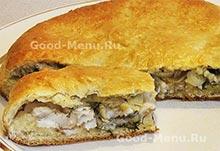 Пирог с рыбой на Масленицу