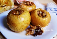 Рецепт на Масленицу печеные яблоки