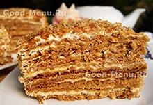 Торт Медовик на Масленицу
