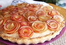 Рецепт на Масленицу яблочный пирог с розами
