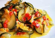 Рецепты постных блюд - тушеные кабачки