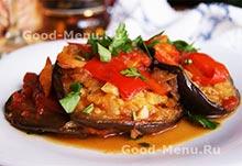 Постные блюда - соте из баклажанов