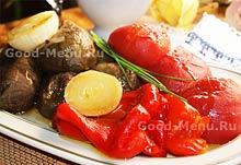 Постные блюда - овощи в духовке