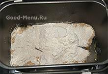 Ингредиенты для черного хлеба в хлебопечке