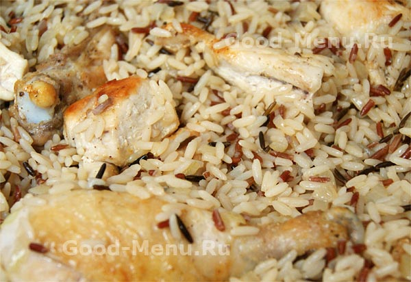 Плов из курицы  пошаговый рецепт с фото на Поварру