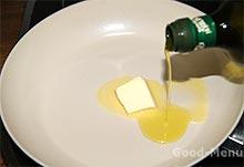 Топим масло для ризотто