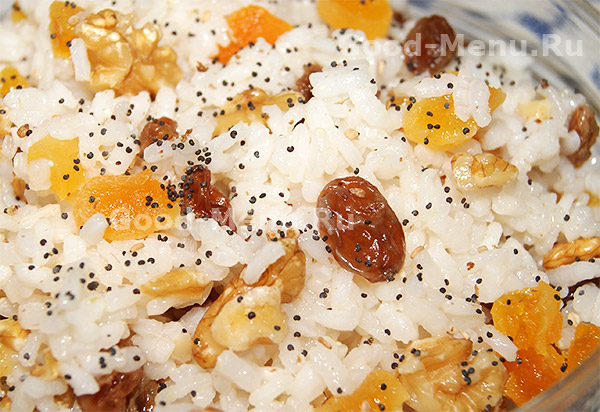 как приготовить кутью из риса с изюмом