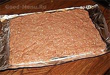 МЯСНОЙ РУЛЕТ ИЗ ФАРША с сыром - рецепт с пошаговыми фото от