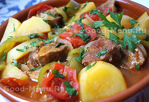 Хашлама из баранины или говядины - рецепт