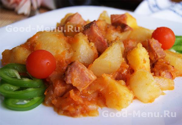 рецепт жаркое из свинины с картошкой на сковороде
