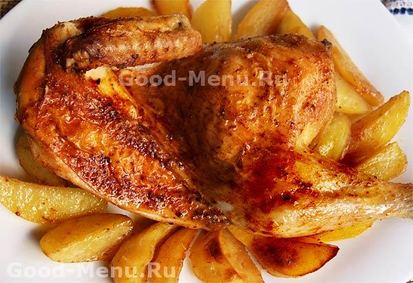 вкусный рецепт курица в духовке рецепт с фото