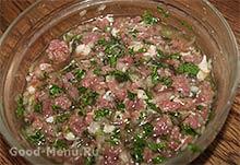 Начинка из рубленого мяса для хинкали