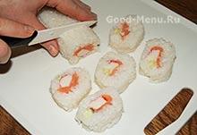 Режем суши без нори