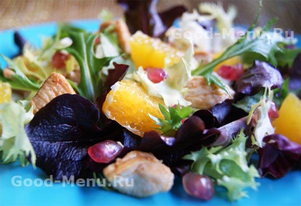 Рецепт салата с киви и гранатом