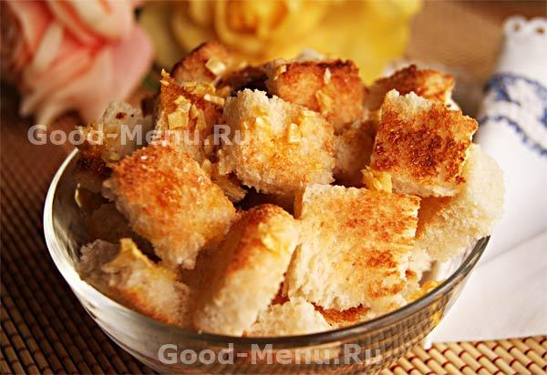 сухари в духовке рецепт