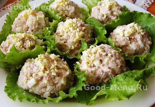 Салат из печени трески - рецепт