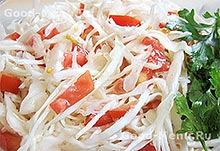 Салат из капусты с помидорами - рецепт с пошаговыми фото от