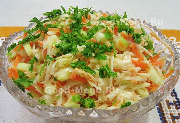 Рецепт салата из корня сельдерея и яблока рецепт
