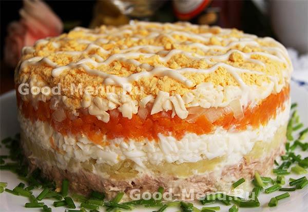 Салат мимоза рецепт классический рецепт пошаговый
