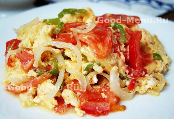 Как приготовить омлет с помидорами на сковороде пошагово в
