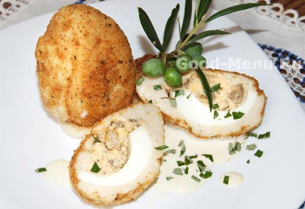 Яйца с грибами рецепт