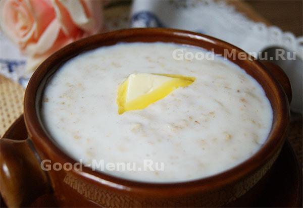 фото овсяная каша на молоке рецепт