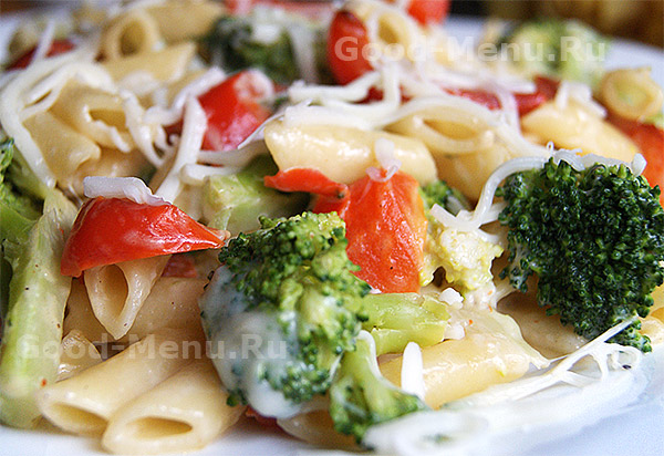 рецепт макароны с овощами