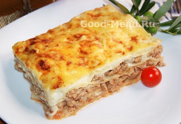 Простой рецепт приготовления лазаньи в домашних условиях