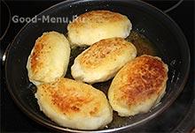 Жарим картофельные зразы с грибами