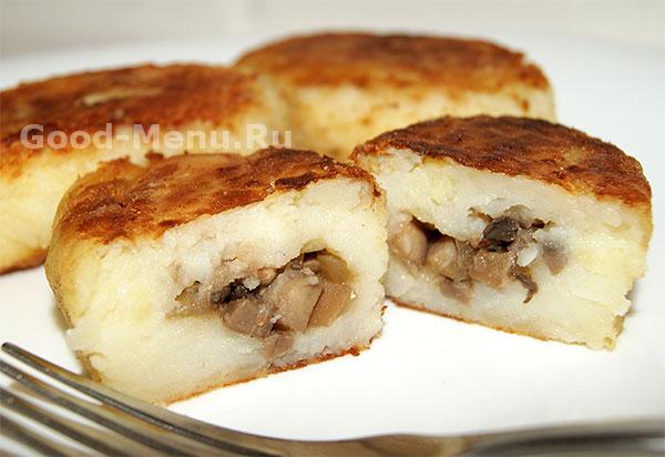 Картофельные зразы с грибами - рецепт