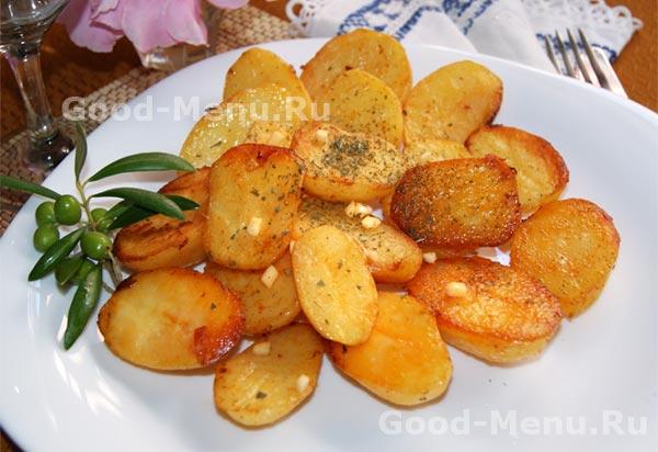 рецепт зажаренная картошка в духовке