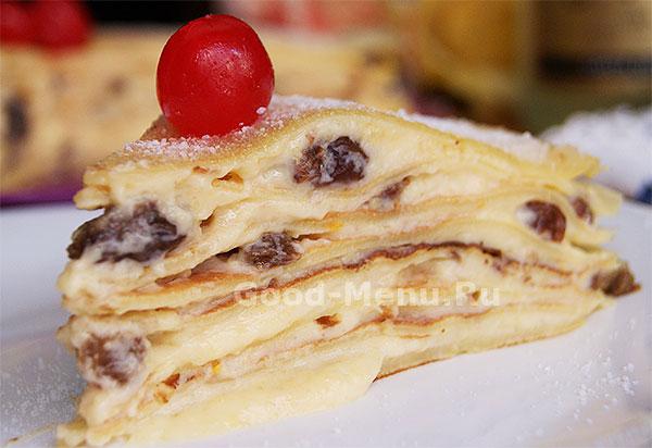 блинный торт крепвиль рецепт